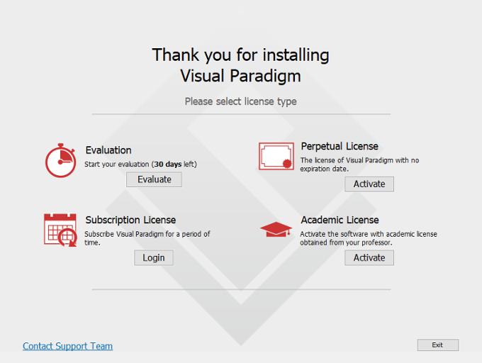 UML工具Visual Paradigm用户指南第2章:激活/停用Visual Paradigm
