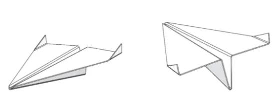 带有固体的纸飞机