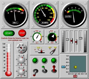Sample Dashboard with GLG Controls